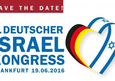 Save the Date 2016 Deutscher Israelkongress