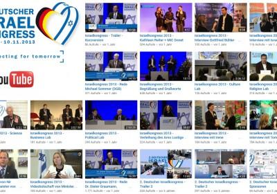 Video Streams Deutscher Israelkongress 2013